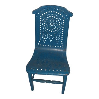 Blue Vintage Country Child's Chair