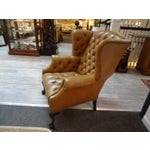 Image of Buttery Leather English Tufted Wing Chair