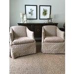 Image of Geometric Pattern Swivel Club Chair