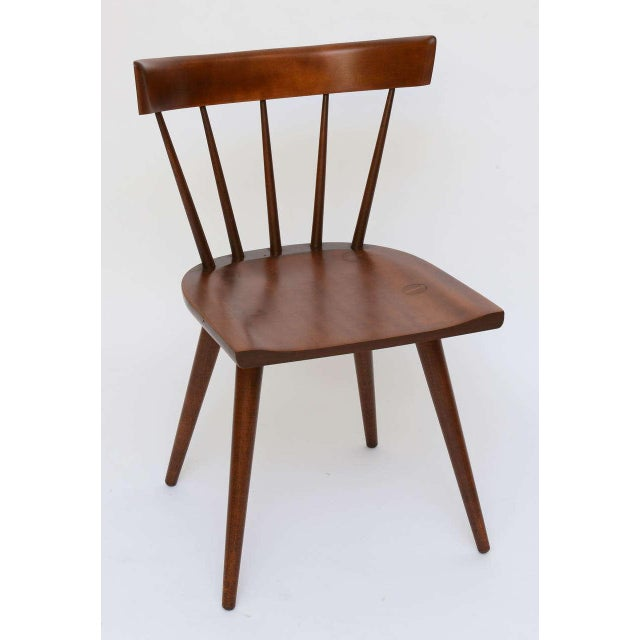 Single Paul McCobb Spindle Back Chair in Dark Maple - Image 9 of 9