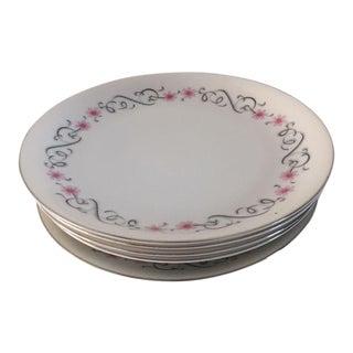 Vintage Floral Bread & Dessert Plates - Set of 5