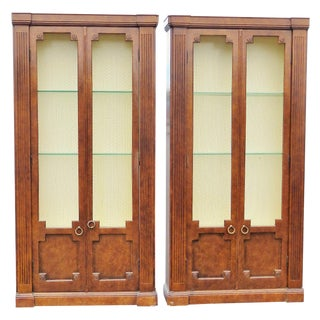 Directoire Style Walnut Bookcases - A Pair