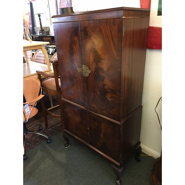 Flame Mahogany Bar Cabinet - Image 8 of 11