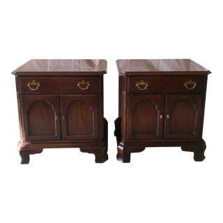 Vintage Drexel Cherry Nightstands - A Pair