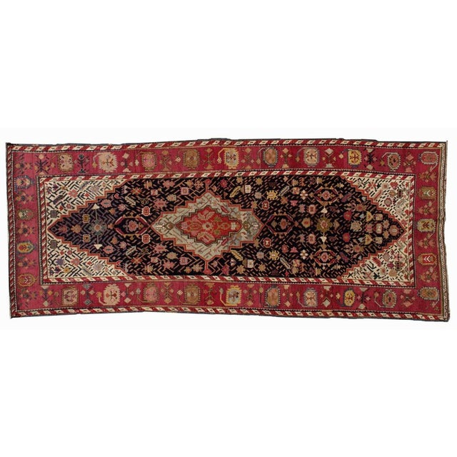 1880s Antique Hand Made Caucasian Karabagh Rug- 4′6″ × 11′7″ - Image 7 of 10