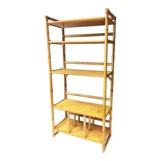 Vintage Boho Chic Bamboo Bookcase