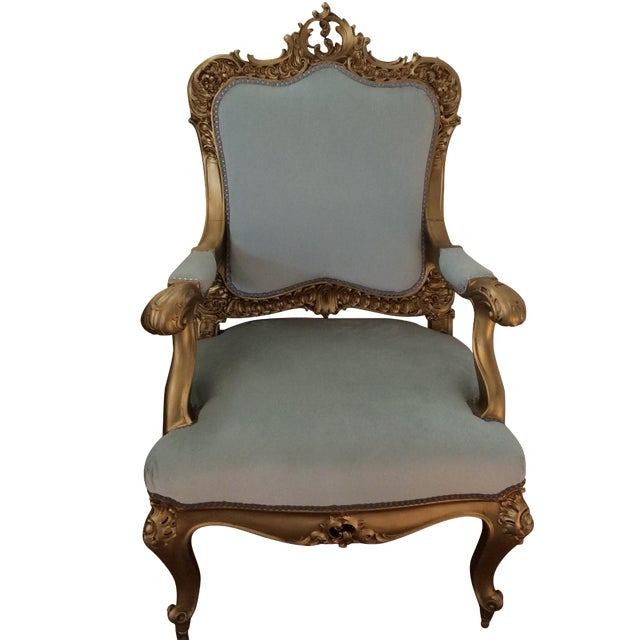 French Baroque Gilt Bergere - Image 1 of 7