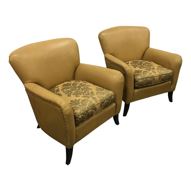 Leathercraft Tan Chairs - A Pair - Image 1 of 8