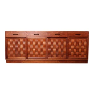 Woven Front Cabinet by Edward Wormley for Dunbar