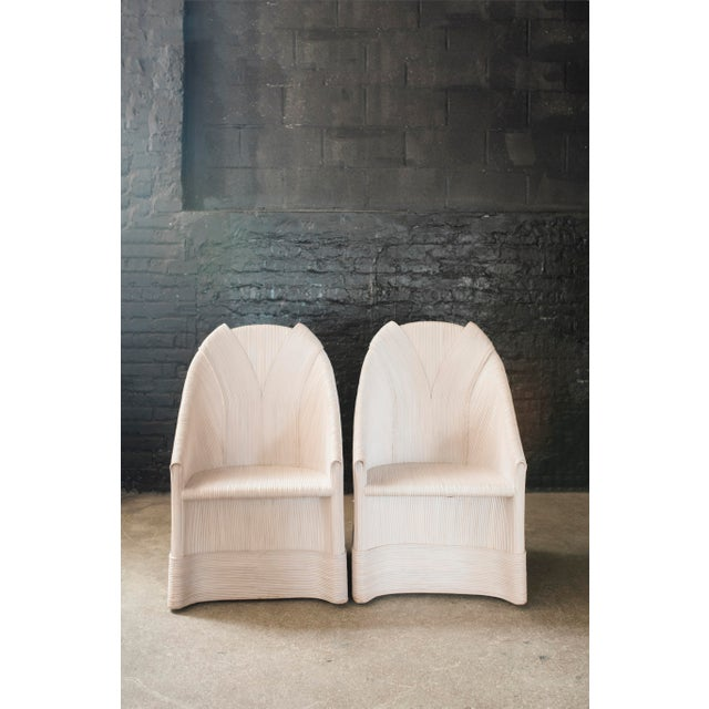 Rattan Scultura Armchairs or Dining Chairs by Betty Cobonpue - a Pair - Image 2 of 11