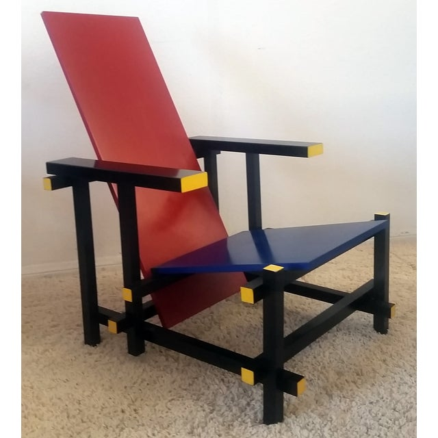 Red & Blue Chair After Gerrit Rietveld - Image 5 of 5