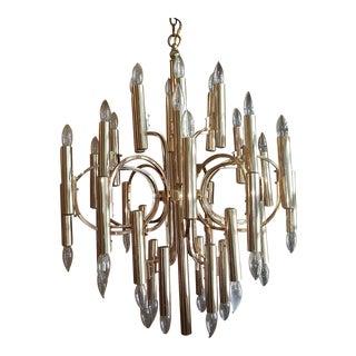Sciolari Style Brass Chandelier