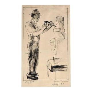 "Frances Liberman ""Roy Zoelin the Sculpture"" Drawing"