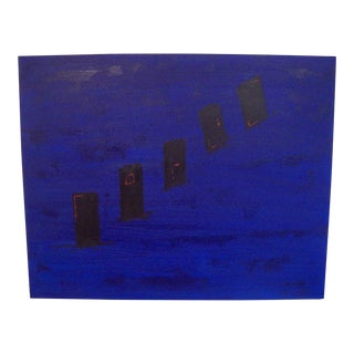 """Doors"" Abstract Acrylic Painting by Dawn Walling"