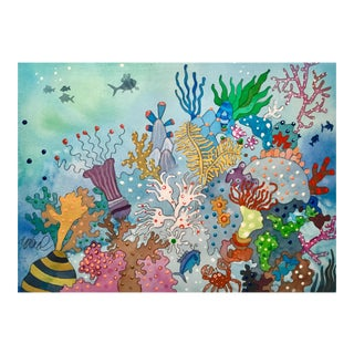 Sunday at the Reef Watercolor Painting