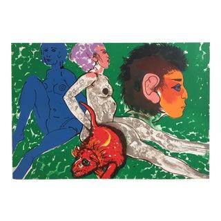 """Robert Beauchamp Original Lithograph """"Red Rat"""""""