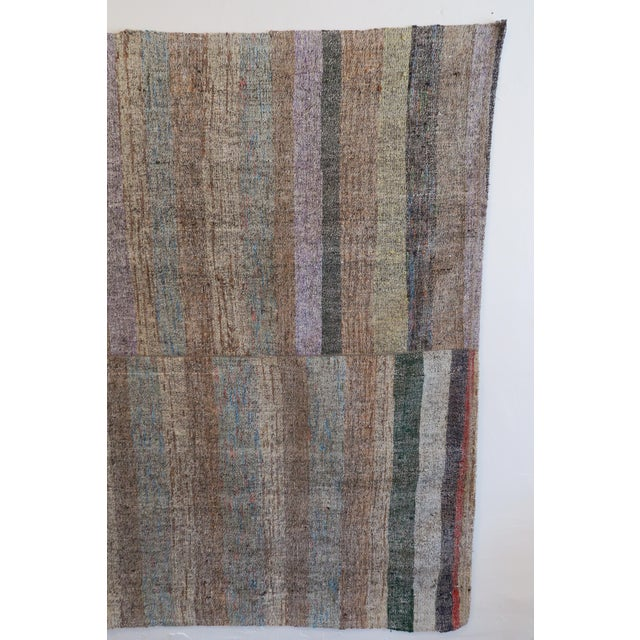 "Vintage Turkish Pala Kilim Rug - 70"" x 93"" - Image 5 of 5"