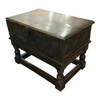 17th Century Carved Oak Bible Box
