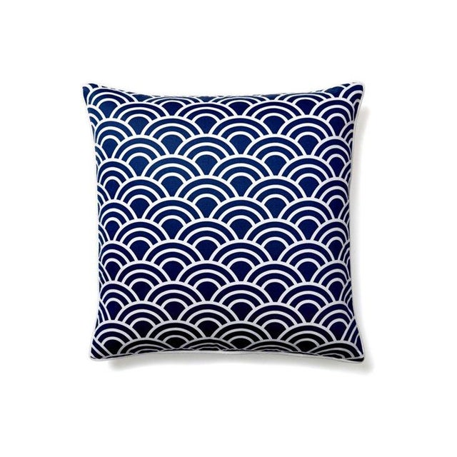 Navy & White Art Deco Arch Pillows - Set of 3 - Image 3 of 4