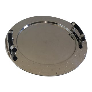 Alessi Polished Stainless Steel Round Tray