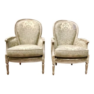 Pair of French Style Traditional Currey and Co. Dubarry Chairs