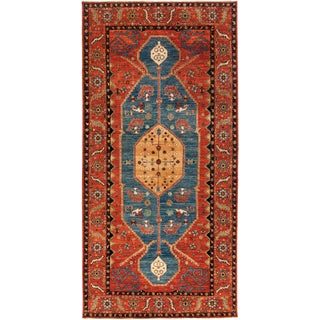 """Contemporary Traditional Hand Knotted Rug - 7'2"""" X 14'6"""""""