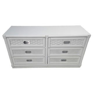 Dixie Lacquered Campaign Wicker Weve Dresser