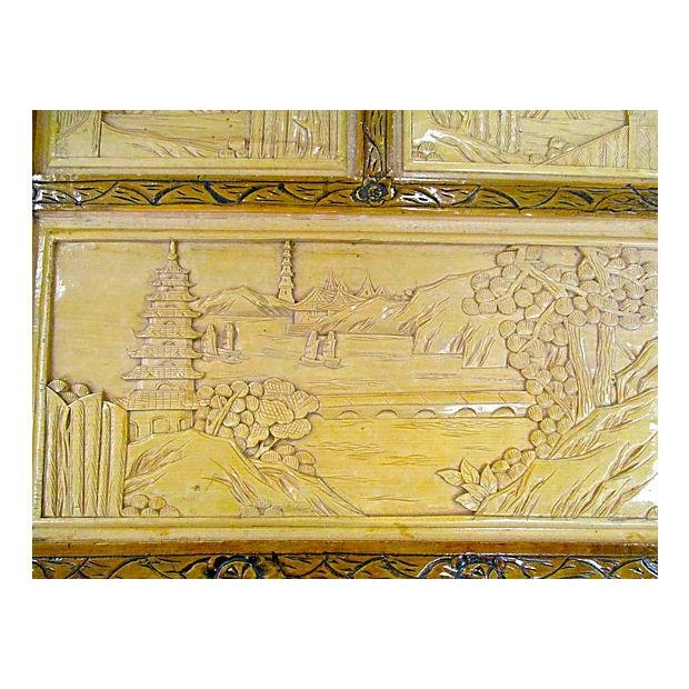 Chinese Carved Trunk - Image 4 of 7
