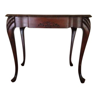 Art Deco Carved Mahogany End Table