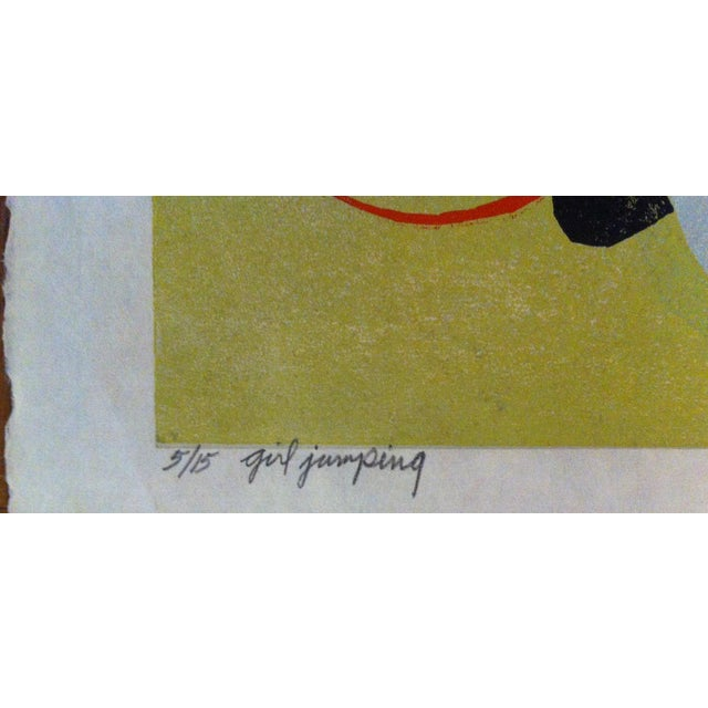 """Clay Walker Painting, """"Girl Jumping"""" - Image 3 of 3"""