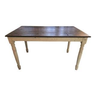 Vintage Rustic Wood Farm Table