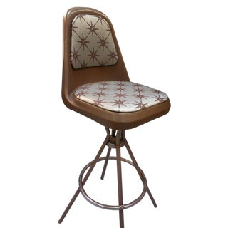 Mid Century Plastic Shell Barstools Set Of 4