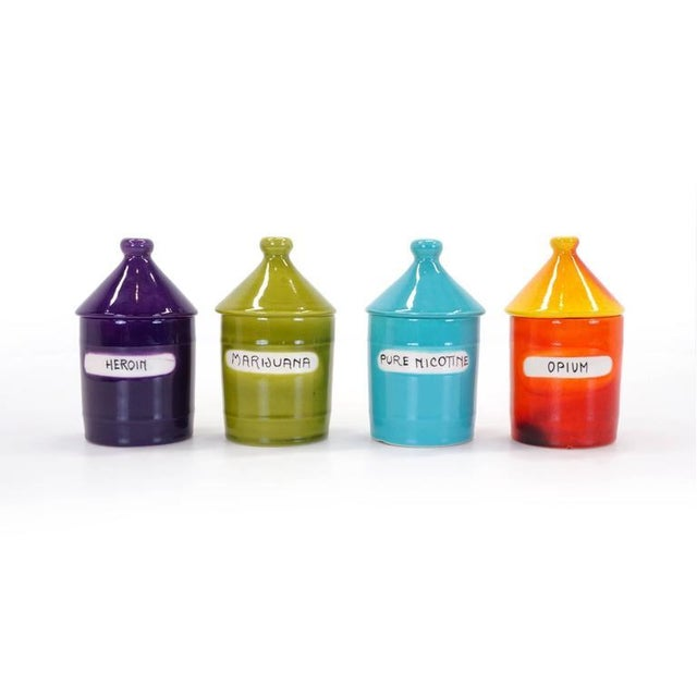 """Image of Set of Four """"Vice Jar"""" Canisters by Raymor, Italy, 1950s"""