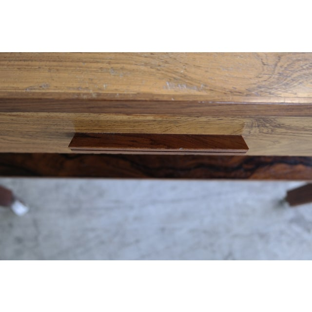 Mid-Century Rosewood Danish Sewing Table - Image 4 of 7