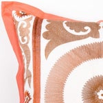 Image of Pink Embroidered Moroccan Pillow