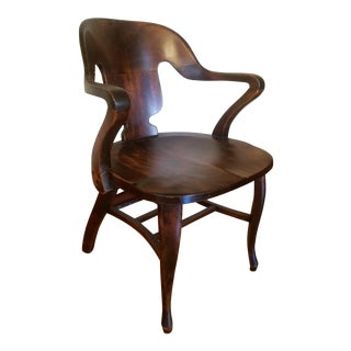 Vintage Restored Wooden Office Chair
