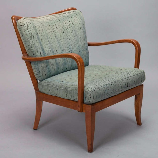 Image of Walter Knoll Antimott Cherry Armchairs- A Pair