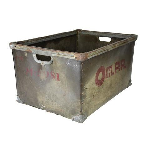 Vintage Metal Storage Bin Image 3 Of 5