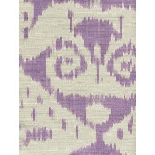 "Quadrille Hand-Block ""Lilac on Tint"" Malaya Pattern Fabric - 6 Yards"