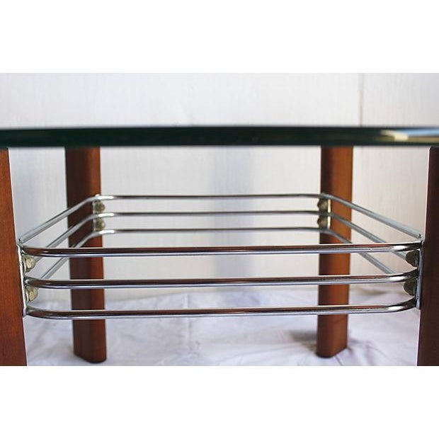 Bauhaus Redwood And Chrome Coffee Table By Stendig Chairish