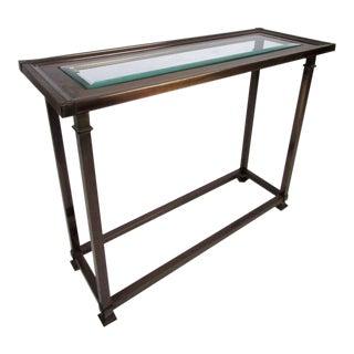 Mid-Century Mastercraft Style Brass Console Table