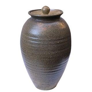 Studio Salt Glaze Jar with Lid by Petteford Pottery, Sebastopol, CA