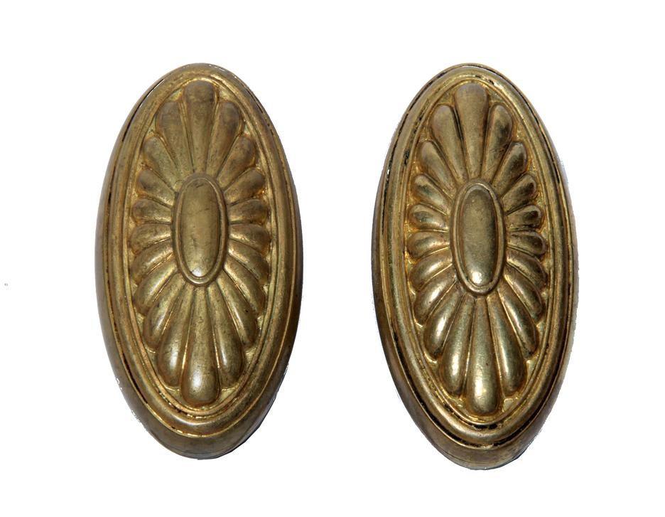 19th Century French Gilt Bronze Door Knobs A Pair Chairish