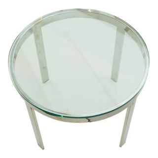Milo Baughman Chrome and Glass Coffee Table
