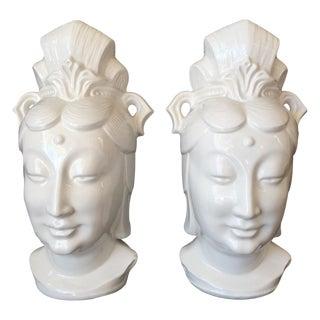 Blanc De Chine Lamps - Pair