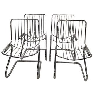 Rinaldi Style Chrome Dining Chairs - Set of 4
