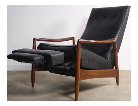 Milo Baughman Highback Recliner Chair