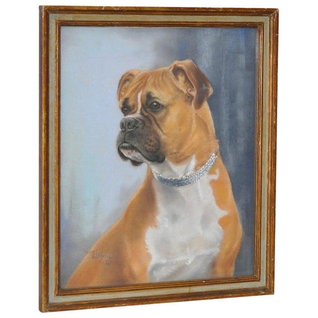 Nigel Mould Vintage 1956 Pastel Bulldog Portrait - Image 1 of 5