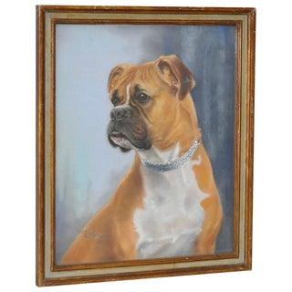 Nigel Mould Vintage 1956 Pastel Bulldog Portrait