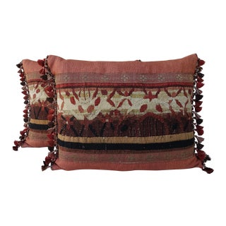Pair of 18th Century Tapestry Pillows by Melissa Levinson